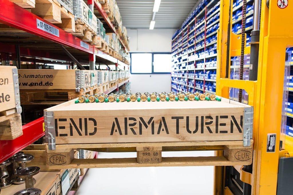 END-Armaturen Lagerraum